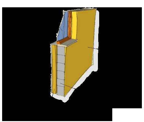 Isolation thermique du bâtiment préconisée par l'audit énergétique