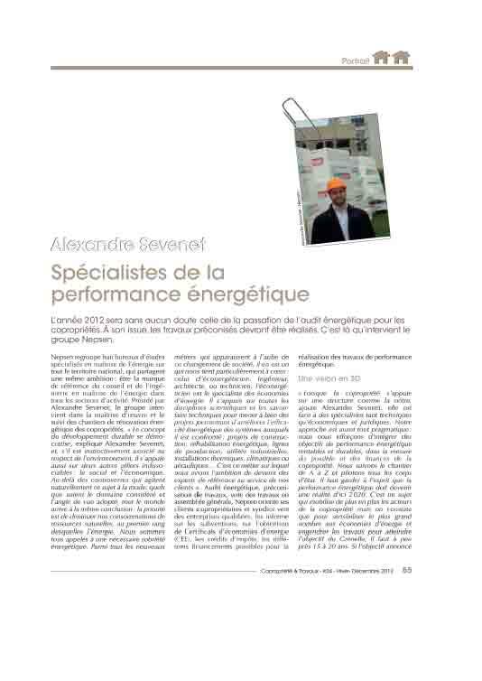 Copropriété et Travaux 2012