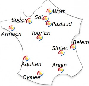 Carte des implantations de Nepsen