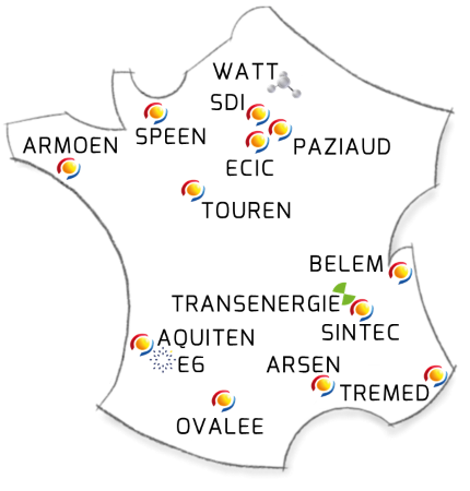 Carte des implantations Nepsen