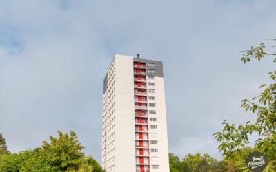 Contrat de Performance Energétique, rénovation BBC de 48 logements, copropriété «Tour de l'Aubépin», Chalon-sur-Saône (71)
